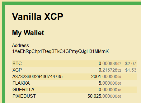 ANN] Vanilla XCP - Ultra Light Counterparty Wallet - 3rd Party